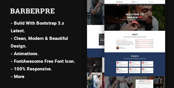 BarberPre – Template HTML - Health & Beauty Retail