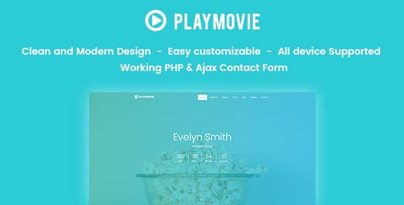 PlayMovie -  Video Blog Entertainment - Site Templates