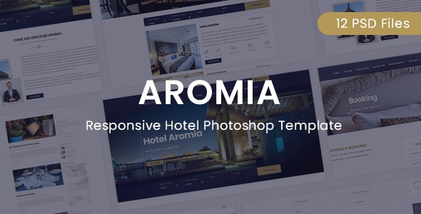Aromia Hotel PSD Template - Photoshop UI Templates