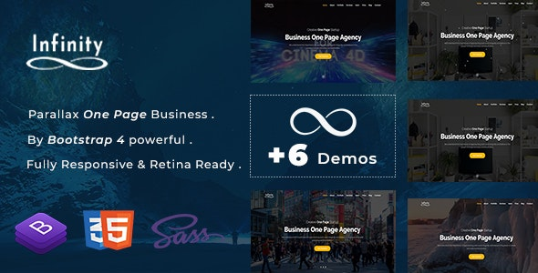 Infinity - One Page Parallax - Creative Site Templates