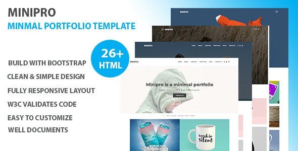 Minipro - Minimal Portfolio HTML Template - Portfolio Creative