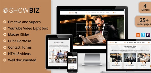 Showbiz - Multipages Business HTML Template - Business Corporate