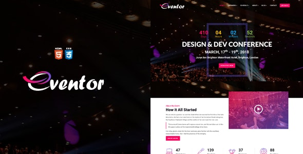 Eventor - Conference & Event HTML Template - Events Entertainment