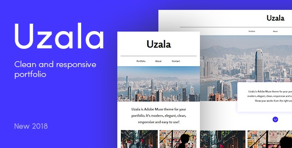 Uzala — Personal Portfolio Muse Template - Personal Muse Templates