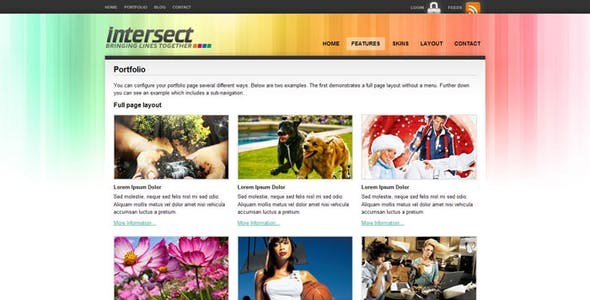 Intersect - HTML Template (8 in 1 skins)