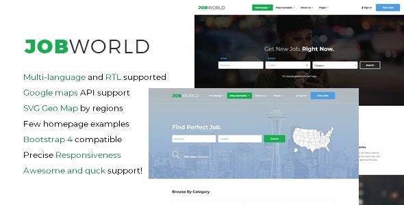 JobWorld - Job Portal HTML Template by sanljiljan | ThemeForest