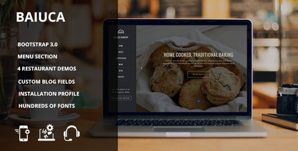Baiuca - Drupal 7 restaurant template - Food Retail