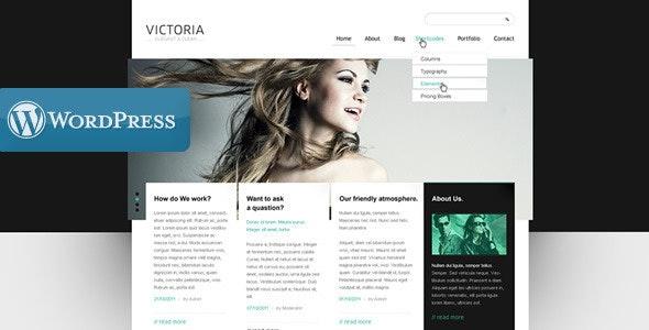WordPress Template Victoria - Portfolio Creative
