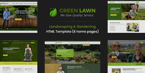 GreenLawn - Landscape And Gardening HTML Template - Business Corporate
