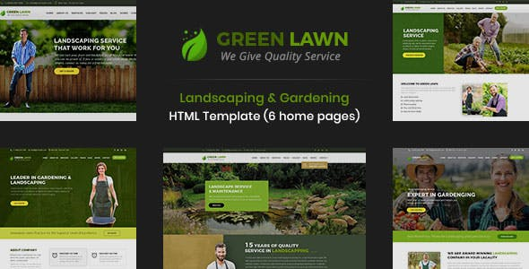 GreenLawn - Landscape And Gardening HTML Template