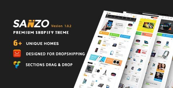 Sanzo - Multipurpose Premium Responsive Shopify Themes - Supermarket, Electronics