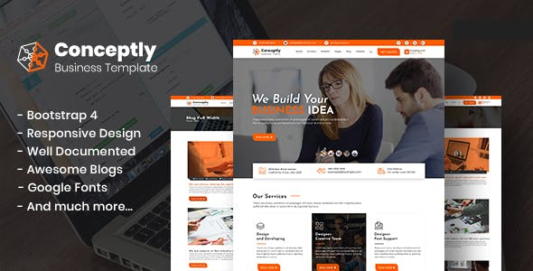 Conceptly - Business Multipurpose HTML template