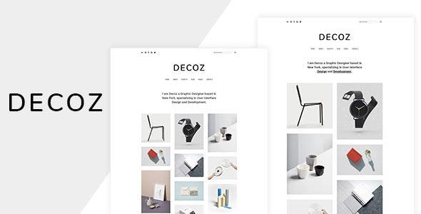Decoz - Minimal Portfolio & Photography HTML - Photography Creative
