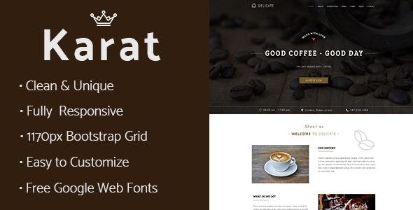 Karat - Coffee Restaurant PSD Template - Photoshop UI Templates
