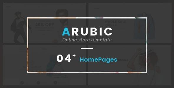 Fashion Shop eCommerce HTML Template - Arubic