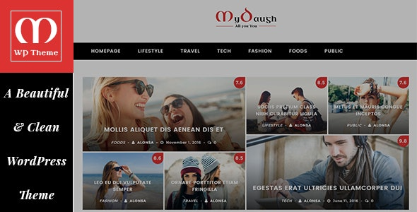 Mydaugh - A WordPress Blog & Magazine Theme - News / Editorial Blog / Magazine