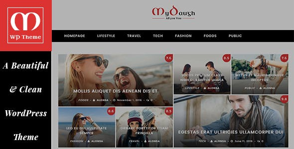 Mydaugh - A WordPress Blog & Magazine Theme