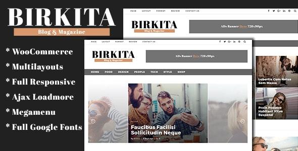 Birkita - WordPress Blog and Magazine Theme - Blog / Magazine WordPress