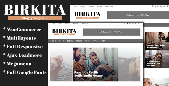 Birkita - WordPress Blog and Magazine Theme - Blog / Magazine WordPress