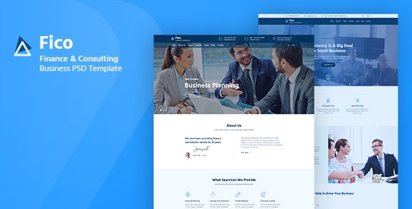Fico - Finance & Consulting Business PSD Template - Business Corporate