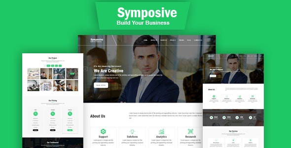 Symposive – One Page HTML Bootstrap4 Template - Business Corporate