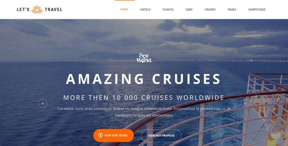 Let's Travel - Responsive Travel Agency WordPress Theme