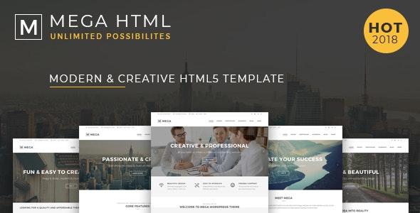 Mega - Multipurpose Creative HTML Template - Portfolio Creative