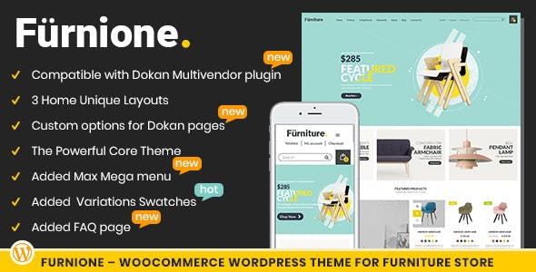 Furnione - WooCommerce WordPress Theme for Furniture Store