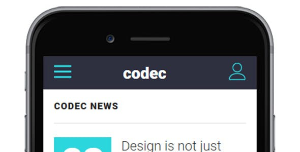 Codec - Mobile HTML Template