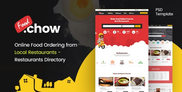 FoodChow - A Food Ordering PSD Template - Food Retail