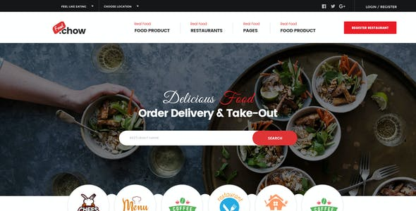FoodChow - A Food Ordering PSD Template