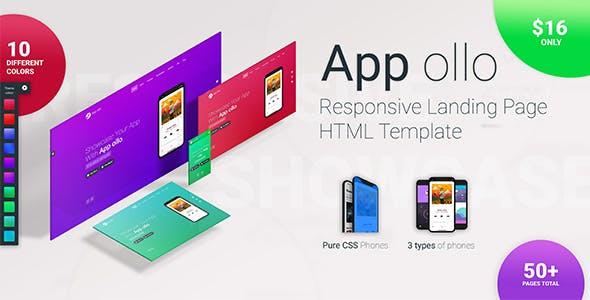 App ollo - App landing page HTML template