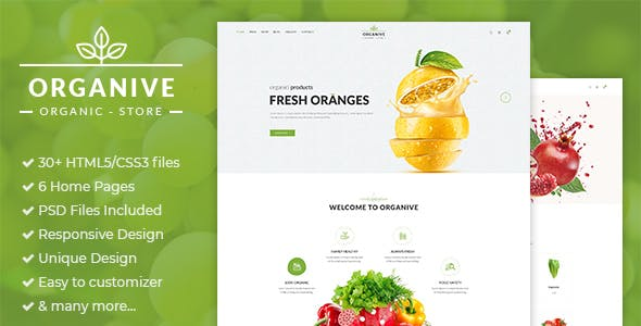 Organive - Organic Store & Eco Food Products HTML5 Template