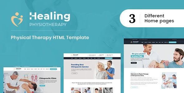 Healing : Physical Therapy HTML Template - Health & Beauty Retail