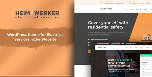 Heimwerker - Electricians WordPress Theme