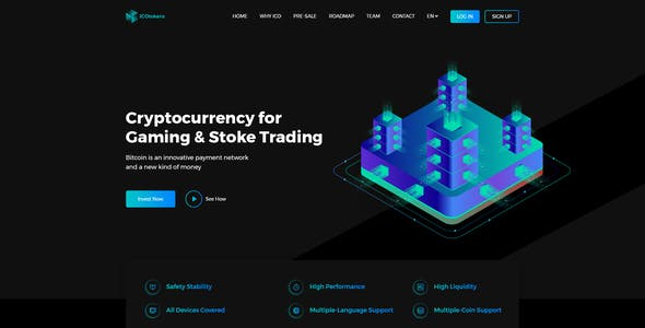 ICO Tokenz - Cryptocurrency Blockchain & ICO Landing Page PSD Template