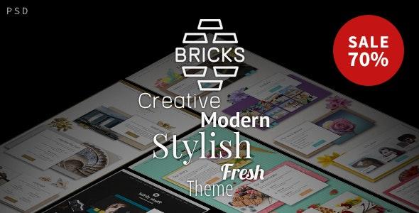 Simple Bricks - Multipurpose PSD Template - Photoshop UI Templates