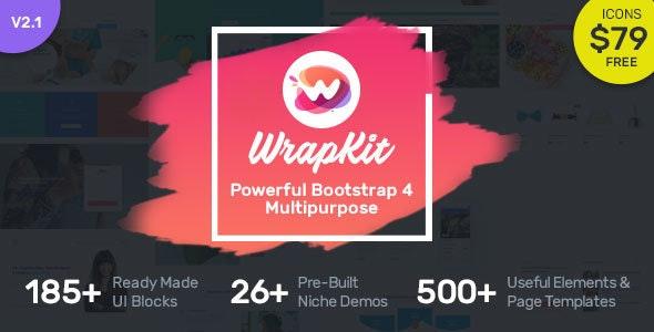 WrapKit - Bootstrap 4 Multipurpose Template - Corporate Site Templates