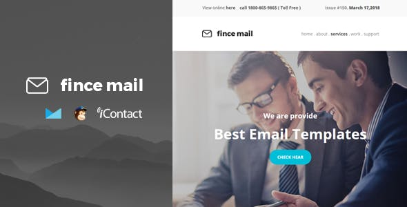 Fince Mail - Responsive E-mail Template + Online Access