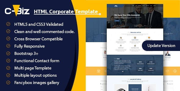 C-Biz : Corporate Business Template - Corporate Site Templates