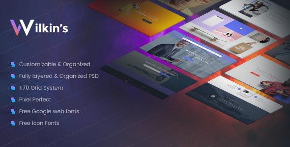Wilkins | Website Builder Muti-Purpose PSD Template - Creative Photoshop