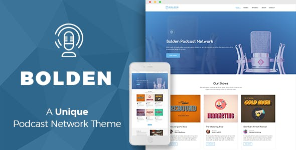 Bolden - A Podcast Network WordPress Theme
