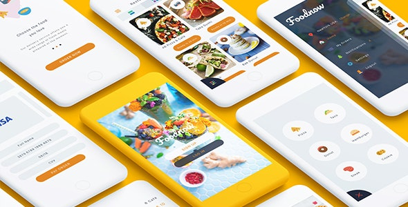 Foodnow - Sketch Food App - Sketch UI Templates