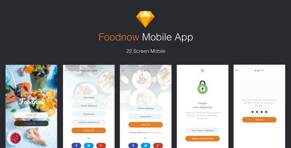 Food App Website Templates from ThemeForest
