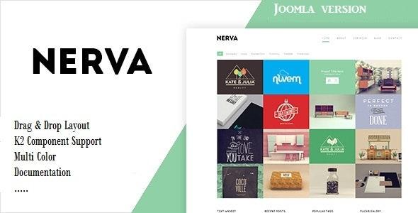 Nerva - Minimal Design Joomla Template - Portfolio Creative