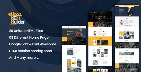Builder Pro || Construction Bootstrap4 Template - Business Corporate