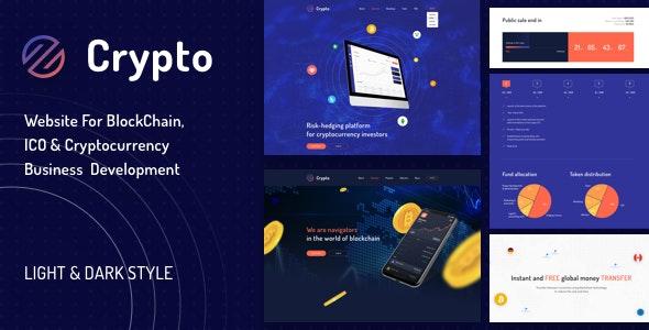 CryptoIO - ICO & Cryptocurrentcy Sketch Template - Business Corporate