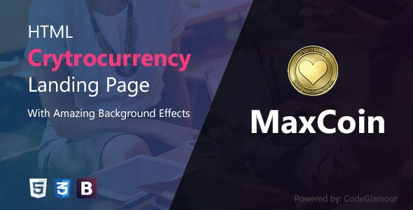 MaxCoin - Cryptocurrency HTML Landing Page - Corporate Site Templates