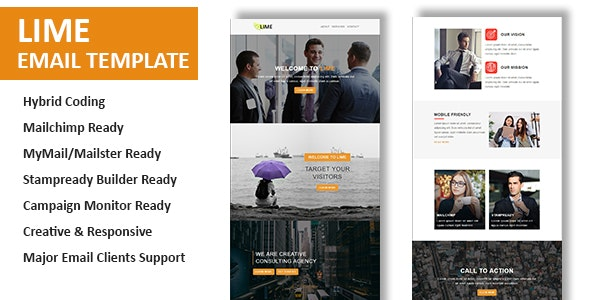 Lime - Multipurpose Responsive Email Template With Online StampReady Builder Access - Newsletters Email Templates