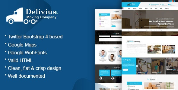 Tez Mover  - Moving, Delivery & Transportation Company HTML Responsive Template - Business Corporate